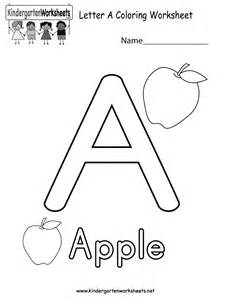 free printable letter a coloring worksheet for kindergarten