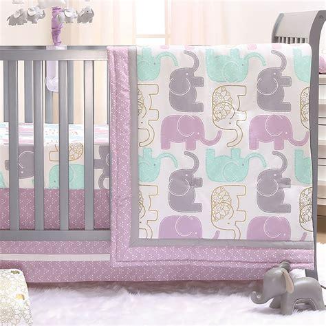 elephant nursery bedding sets peanut lilac purple and gold elephants 3 baby crib bedding set 615339568888 ebay