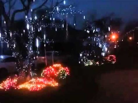 falling snow christmas lights youtube