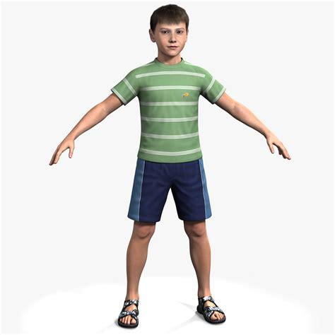 3d Kid 3d model rigged ben boy