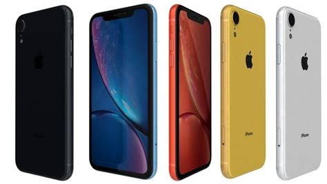 coral apple iphone xr all colors 3d model cgtrader