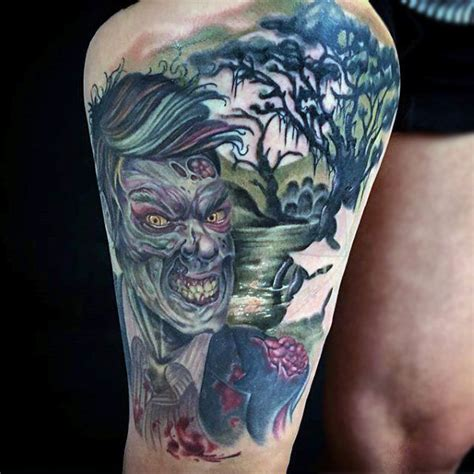 zombie bite tattoo designs 90 tattoos for masculine walking dead designs