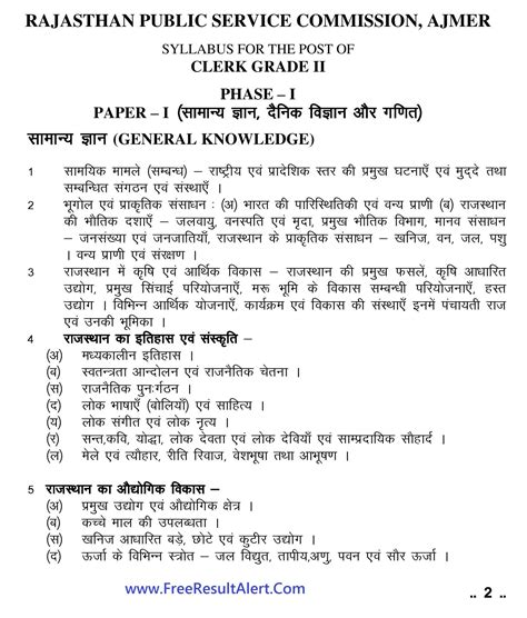 Mba In Telecommunications Syllabus by Rpsc Ldc Re Syllabus 2016 Re Date Of Clerk Grade 2