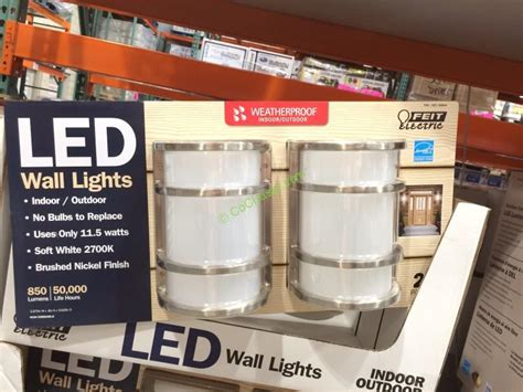 Outdoor Lights Costco Feit Electric Led Wall Sconce Indoor Outdoor 2 Pack Costcochaser