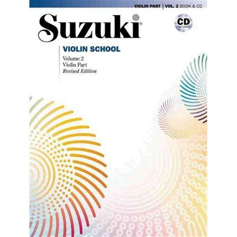 volume 2 books suzuki violin school method book and cd volume 2 shar