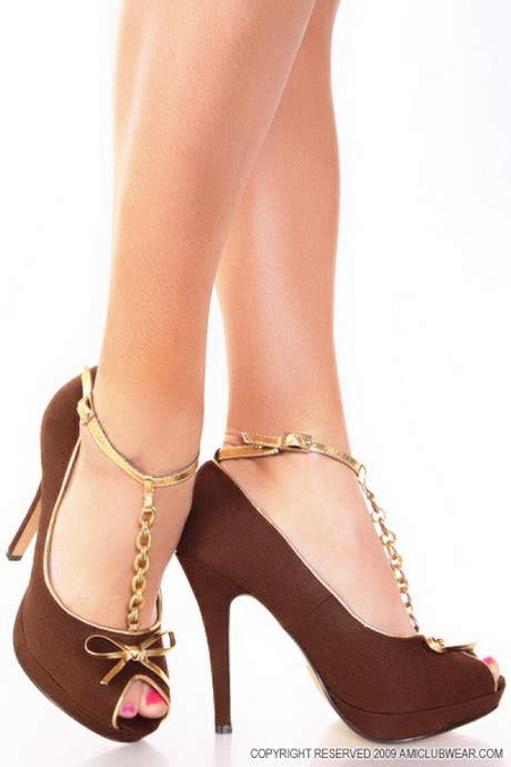 brown high heel shoes