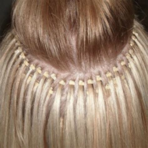 Hair Extensions With Small Microbeads Extensions | micro bead hair extensions thin hair styling hair extensions