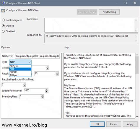 configure dc  synchronize time  external ntp server