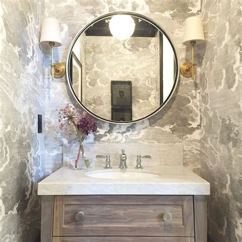 grey wallpaper powder room gray powder room wallpaper traditional bathroom