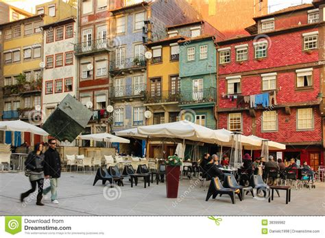 House Plans European ribeira square in the old town porto portugal editorial