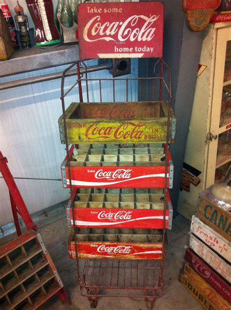 coca cola wooden crate rack collectors weekly