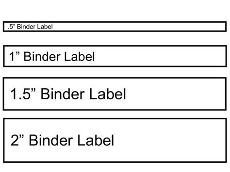 printable binder templates for your binder filing system