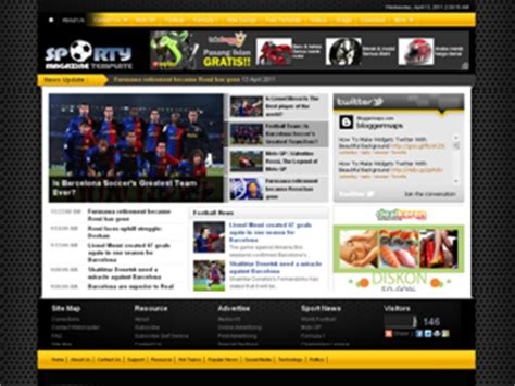 templates for blogger sports sports magazine 2 blogger template free download