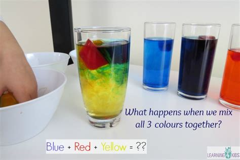 4 primary colors exploring mixing primary colours activity learning 4