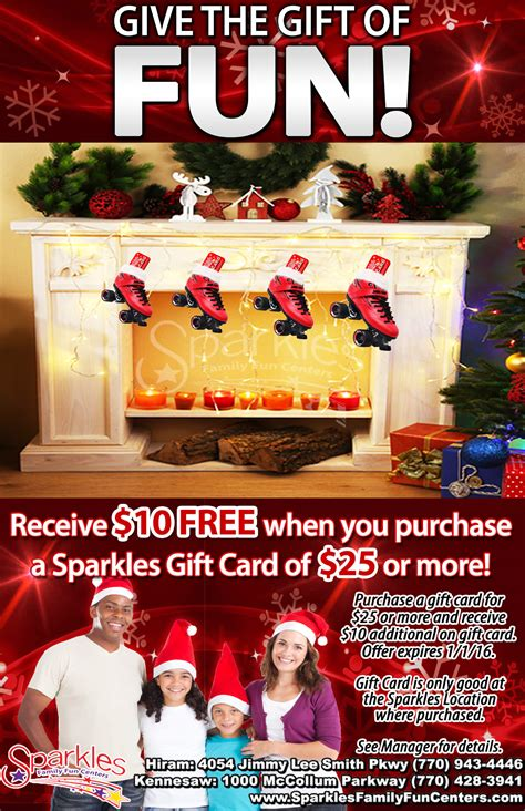 Gift Card Flyer - give the perfect gift this christmas