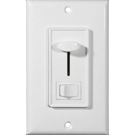 morris products 82751 slide dimmer with switch white