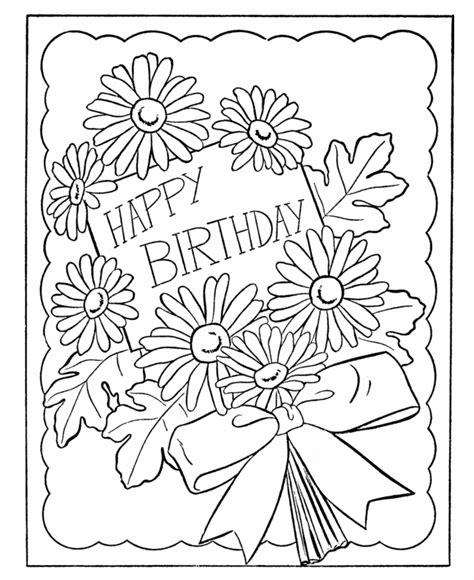 card coloring pages birthday card coloring pages coloring home