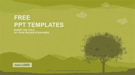 powerpoint slides template free silhouette tree nature ppt templates free