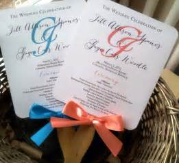 Wedding Fans Programs Turquoise Wedding Program Fans Pick Two By Pinkorchidinvites