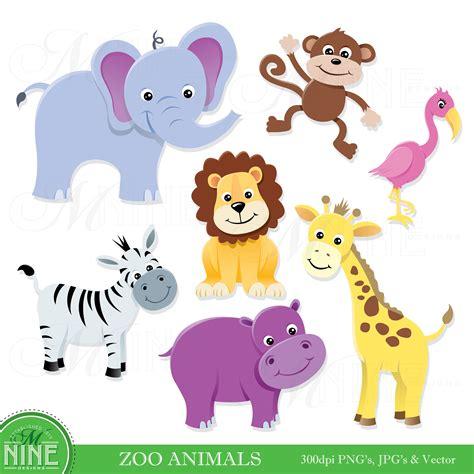 animals clipart animal clip zoo animals clipart digital clip