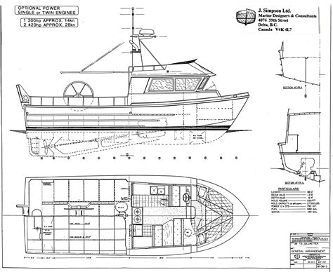 fishing boat layout j simpson ltd marine designers and consultants 38ft