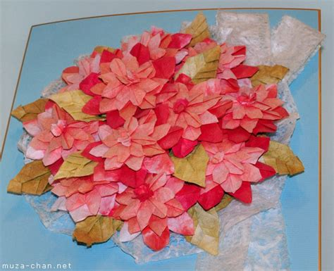 Japanese Flower Origami - origami diorama masterpieces a great place to see and a
