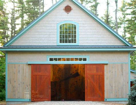Sliding Barn Doors For Garage Sliding Barn Doors On Home Gymnasium