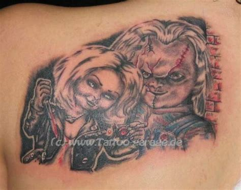 bride of chucky tattoo designs chucky and bride tattoos