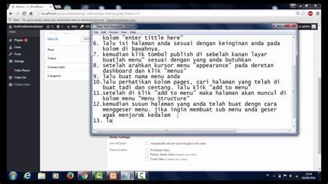 tutorial membuat online shop di wordpress tutorial membuat menu dan submenu di wordpress youtube