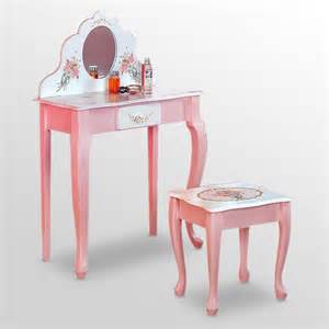 fields bouquet small vanity and stool set with