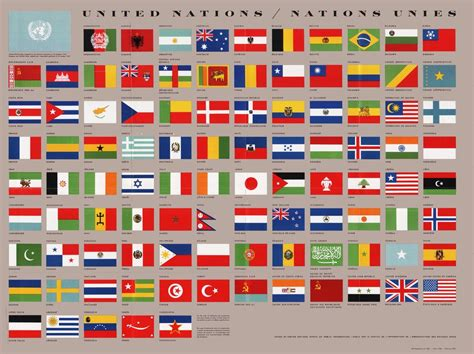 United Nations Nation 60 by Flags Of The United Nations 1960 Vexillology