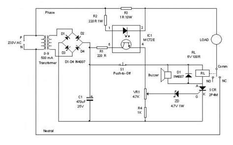 electronic circuit breaker circuit diagram