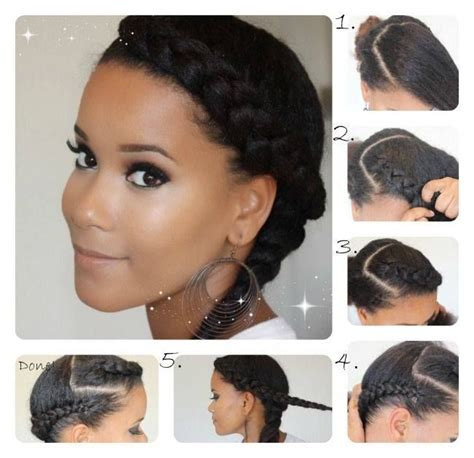 relaxed hair protective styles for high foreheads 179 best goddess halo braid images on pinterest