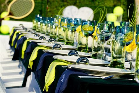 tennis themed events dash and a handful event design production custom catering