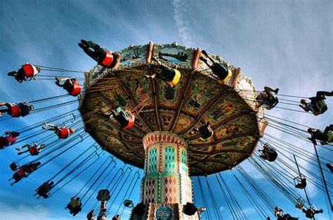 amusement park swing accident amusement park ride falls over in terrifying freak