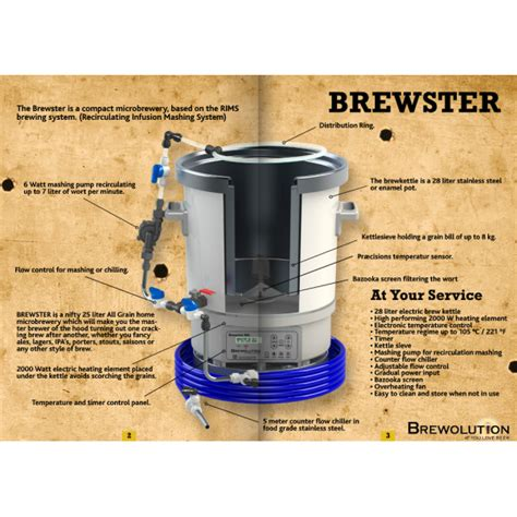 brewolution the brewster all in one all grain micro brewery