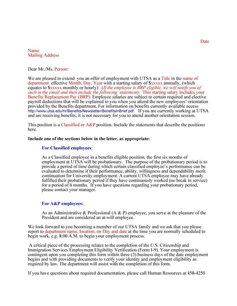 Offer Letter For Employment 44 fantastic offer letter templates employment counter