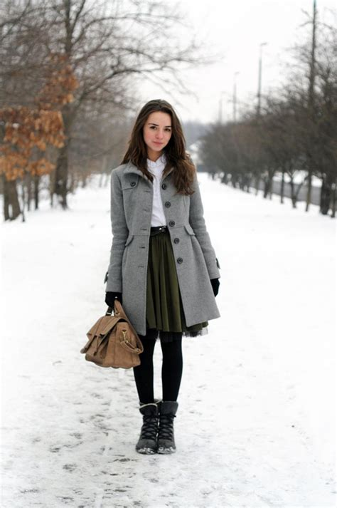 7 Favorite Winter Skirts by Inspiring Skirt And Boots Combinations For Fall And Winter