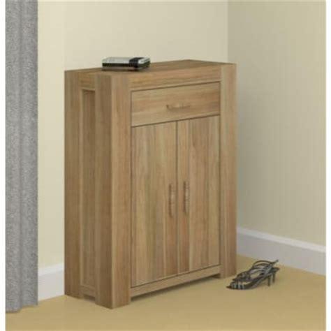 baumhaus atlas solid oak shoe cabinet 15 pairs