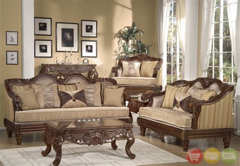 Formal Living Room Sofa Formal Luxury Set Traditional Living Room Furniture Hd 386 Cherry