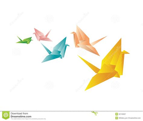 Dimensions Of Origami Paper - colorful paper cranes royalty free stock photography