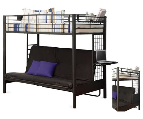 futon bunk bed futon bunk bed and mattress collection big lots