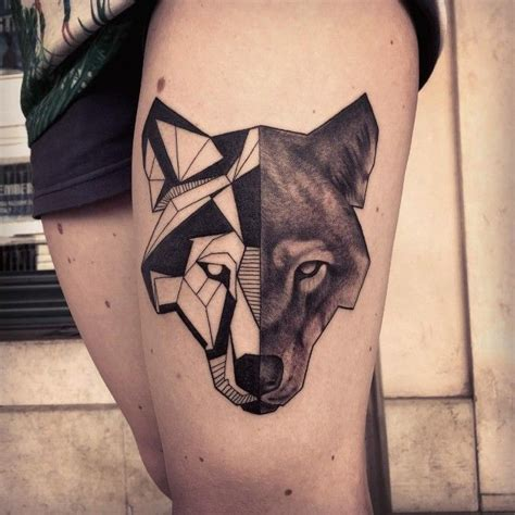lone wolf tattoo meaning geometric 45 awesome wolf designs