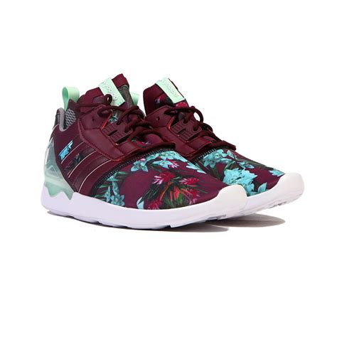 adidas zx 8000 boost burgundy floral teal blue s shoes b24958 ebay