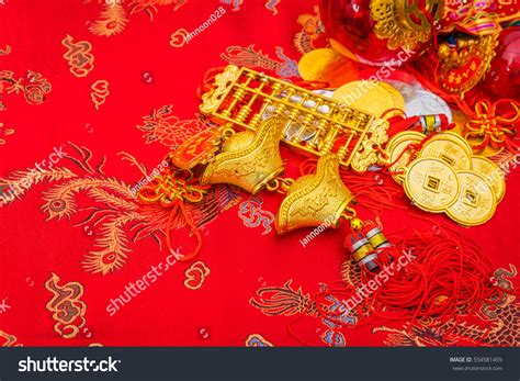 new year cloth decoration new year decoration on stock photo 554581459