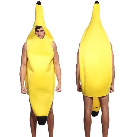 adult unisex womens mens banana suit yellow costume fancy
