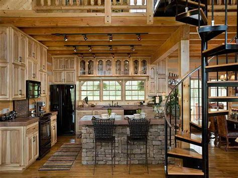cabin kitchens ideas kitchen log cabin kitchens design ideas with stairs log