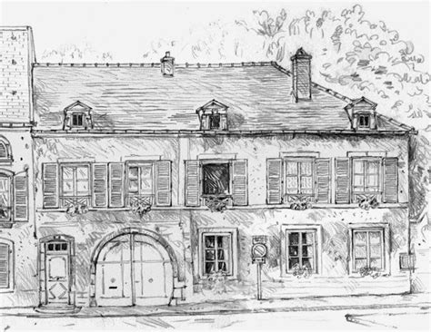 Collection of Stunning Croquis Dessin Maison Images Seiunkel Us ...