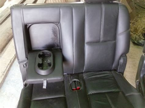 suburban 2nd row bench seat 2nd row leather bench seats suburban escalade esv yukon xl