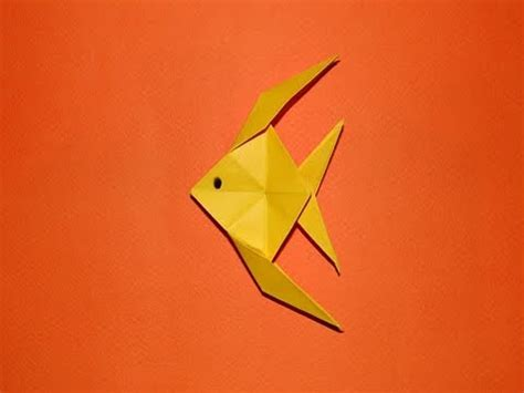 How To Make Paper Folding Fish - how to make an origami fish 01